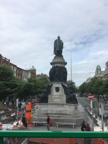 The Daniel O'Connell Statue at the end of O'Connell Street