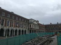 The Upper Castle yard (Great Courtyard) of Dublin Castle under reconstruction