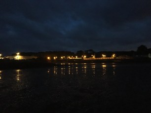 We walked all the way from the lights into the sea (it was low tide)