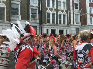 A Drum Band - the first part of the Parade we saw