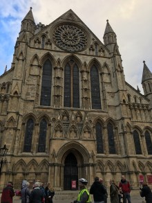 Front view of the York Minster