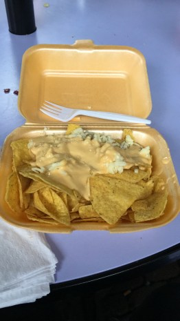 my not so nice Nachos. The Crisps were fine, but the sauce wasn't