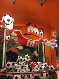 The Statue of the Orange M&M
