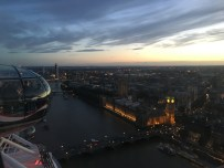 The nice view from the top of the London Eye