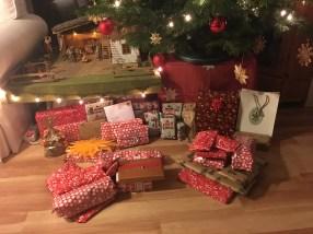 All the presents (the left pile in the front is mine ;))