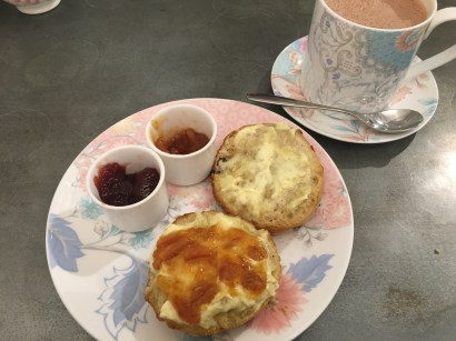 Hot chocolate (Rocky Road) with my Scone!