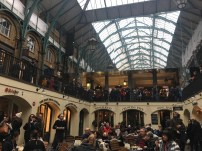Crowded Covent Garden on a Sunday afternoon