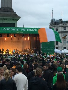 So many irish flags and typical irish colours