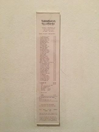'Monochrome Till Receipt (White)' by Ceal Floyer (1999)