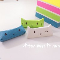 DIY: Kitten Post-It Notes