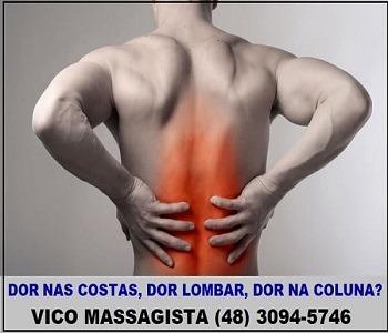 Vico Massagista - Dor nas Costas, Dor Lombar, Dor na Coluna - Massagem Terapêutica, Quiropraxia, Massoterapia, Acupuntura - São José, SC - 1a