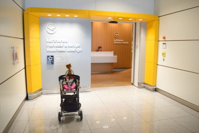 Eingang Lufthansa Senator Lounge Terminal 2 Gate K/L