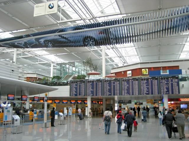 Der Business Class Check-in am Flughafen MUC