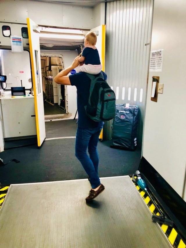 Boarding Finnair Flug AY01 nach Los Angeles