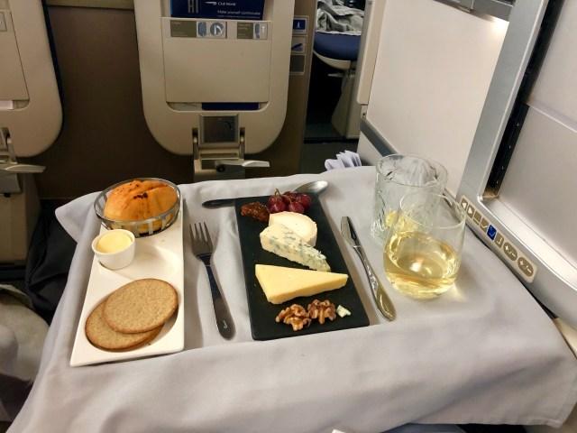 British Airways Club World - Business Class Käseplatte