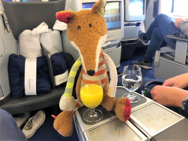 Lufthansa Pre Departure Drink Orangen Minze