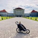 Joggen mit dem Thule Chariot Sport im Nymphenburger SChlosspark