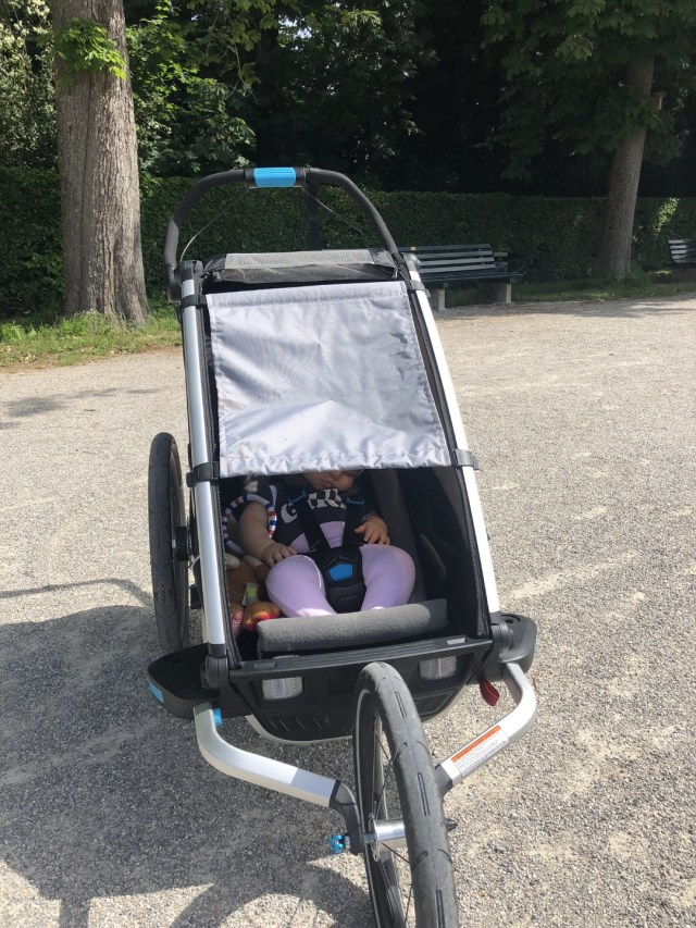 Sonnenschutz am Thule Chariot Sport