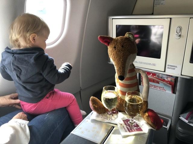 Pre-Depature Drink in der Eurowings Business Class
