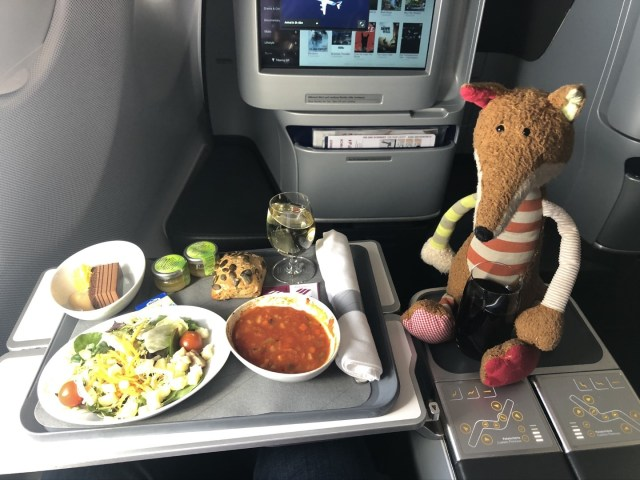 Abendessen in der Eurowings Business Class
