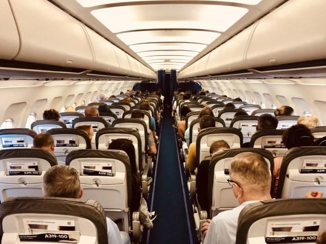 Der Flug LH 1654 war zu 90% ausgebucht