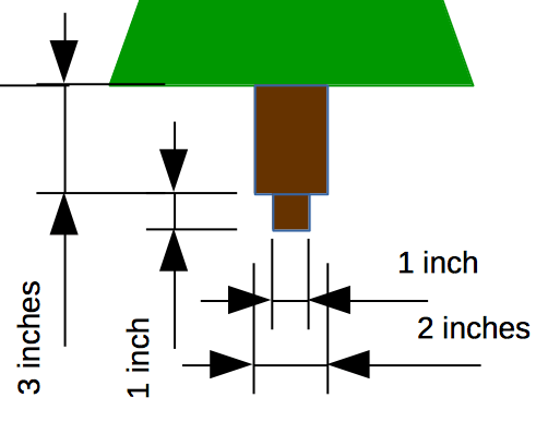 Details of the dimensions of the trunk