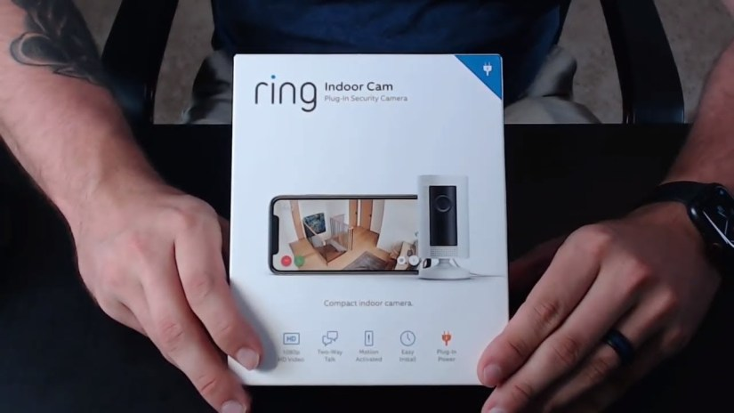 ring camera securité intérieur