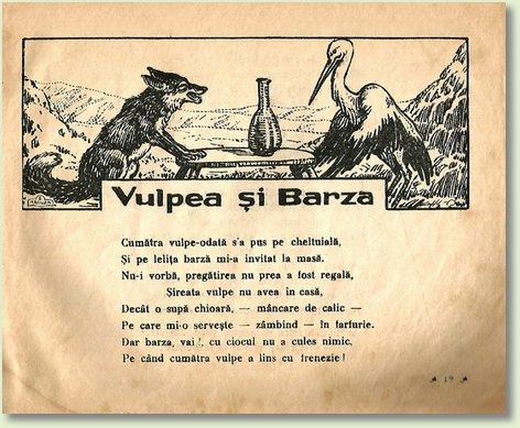 A VULPEA SI BARZA
