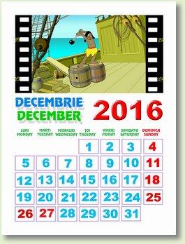 calendar decembrie 2016
