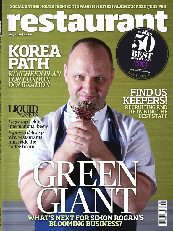 Michelin Star Chef Simon Rogan For The Cover Of Restaurant