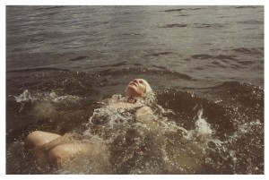 My mother, the swimmer, in Halfmoon Bay