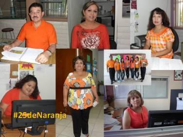 """Participantes en la Actividad #25deNaranja en el CBTIS No. 188 """"José Vasconcelos"""""""