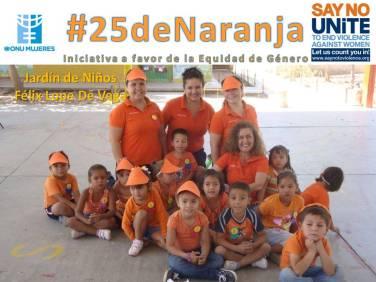 #25deNaranja: en Jardín de Niños Félix Lope de Vega.
