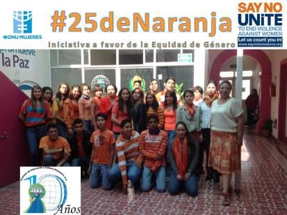 #25deNaranja: en Instituto Alejandría Durango.