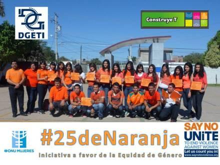 "#25deNaranja: en CBTIS 188 ""José Vasconcelos""."