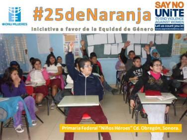 #25deNaranja en Mini-Taller sobre Equidad de Género.