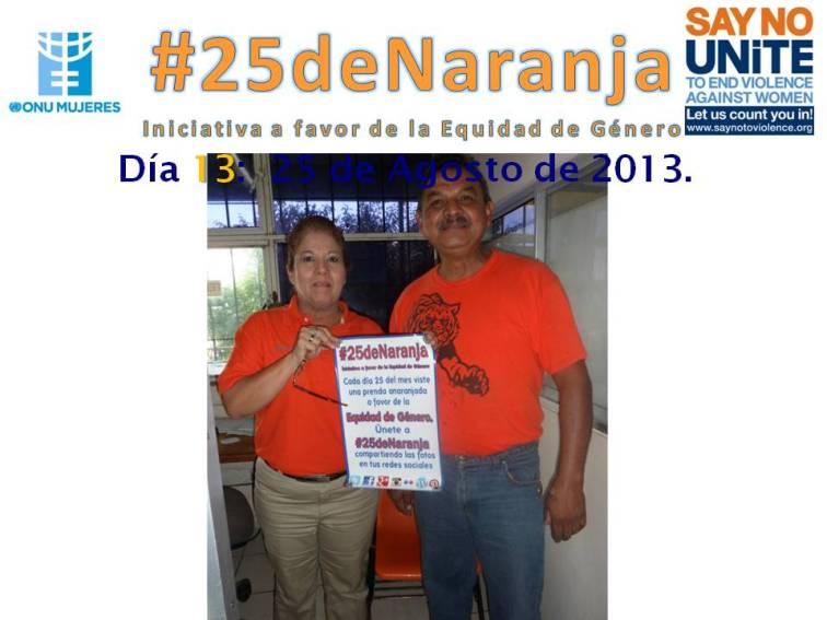 En CBTIS No. 188 apoyando #25deNaranja.