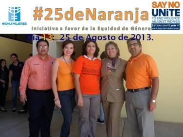 Colegio Excelencia apoyando #25deNaranja.