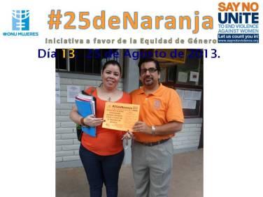 Docente del CBTIS No. 188 apoyando #25deNaranja.