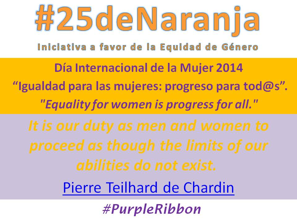 #25deNaranja promueve #PurpleRibbon con motivo de #IWD2014