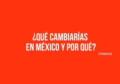 ¿Qué cambiarías de México y por qué?