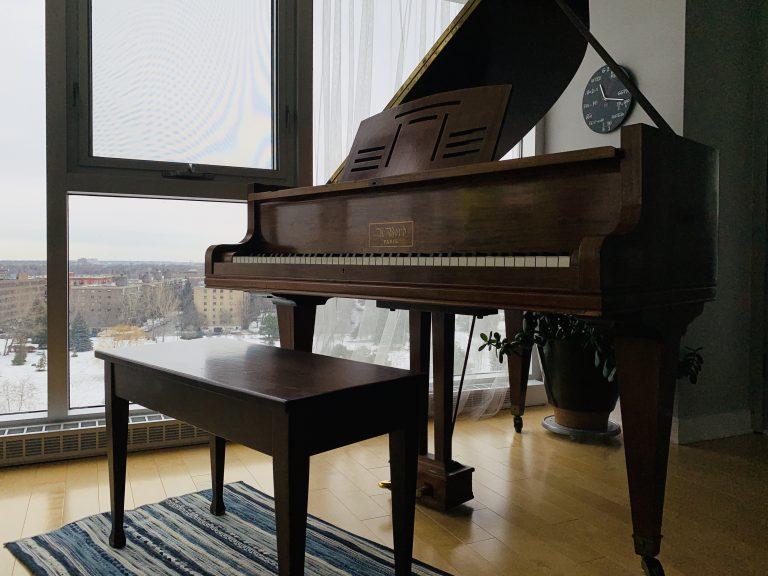 piano overlooking park