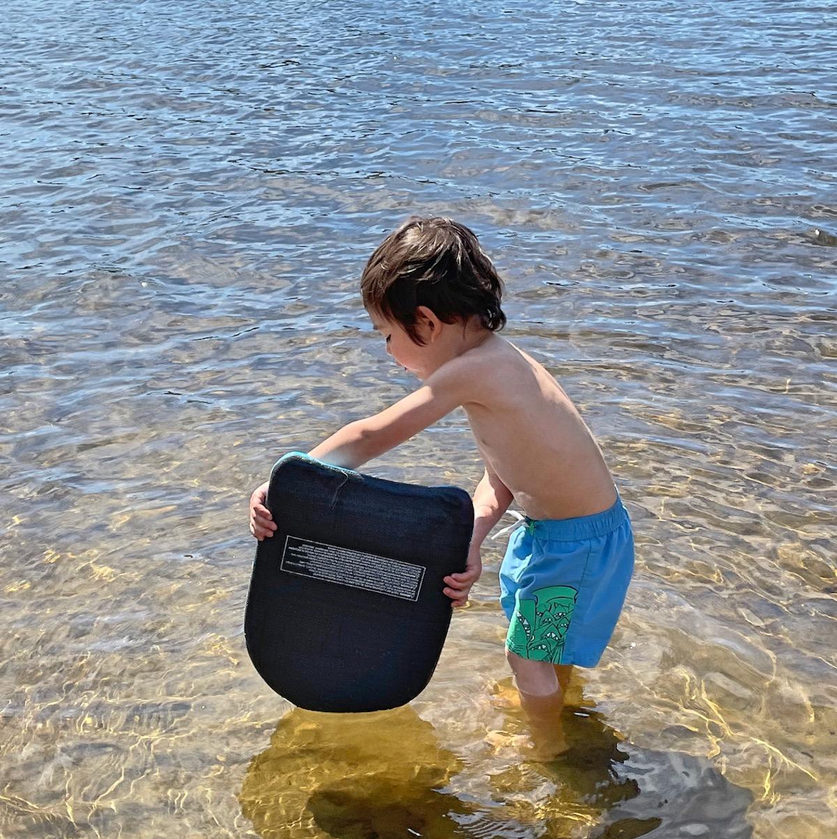 Finn at the lake