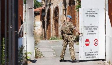 A U.N. peacekeeper in the buffer zone in Anatolia, Cyprus. (Andrew-Caballero-Reynolds) Photo via NRO