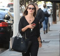 Alessandra Ambrosio Pairs All-Black Everything with an All-Black Michael Kors Bag