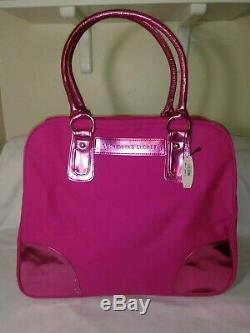 NWT Victorias Secret Large Duffle Bag & Tote. 2pc Luggage Set in PINK Canvas