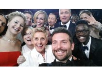 The most famous selfie to date - Ellen's Oscar Selfie