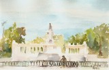 Monumento of Alfonso XII Retiro Park Madrid Spain 2011