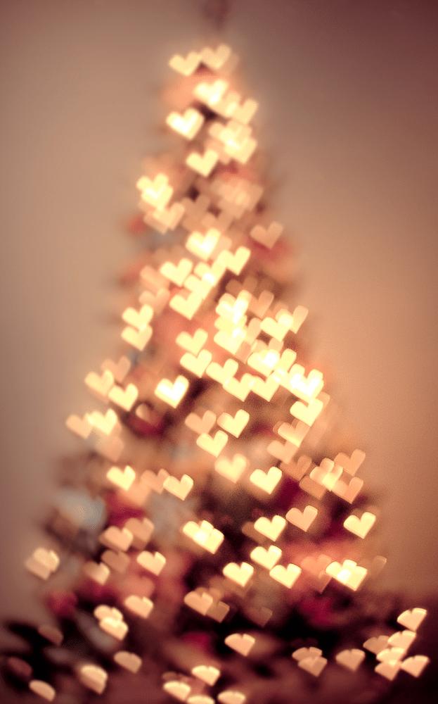 love lights on a christmas tree