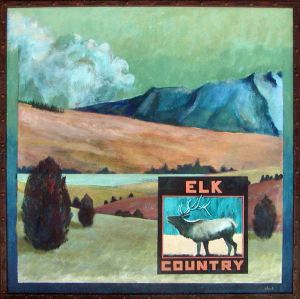 New Mexico Label Series - Elk Country